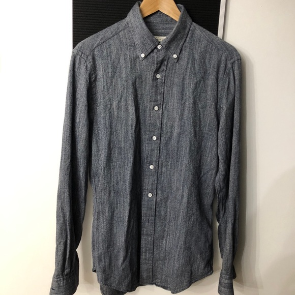 Club Monaco Shirts Made In The Usa Oxford Flannel Shirt Poshmark